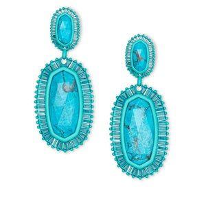 Kendra Scott Kaki Aqua Earrings